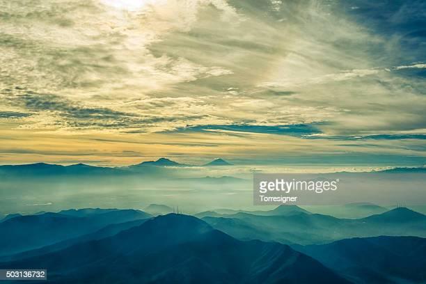 ヴァレイメキシコのパノラマに広がる眺め