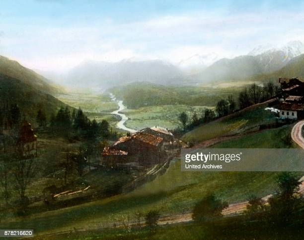 Valley of river Inn at Tyrol 1920s