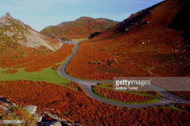 valley of rocks - lynton stock pictures, royalty-free photos & images