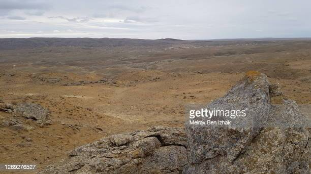 epic kazakh desert views valley stone