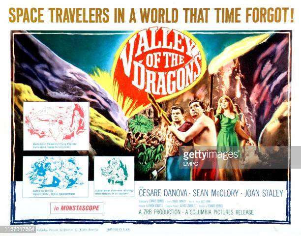 Valley Of The Dragons poster US poster from left Sean McClory Cesare Danova Joan Staley 1961