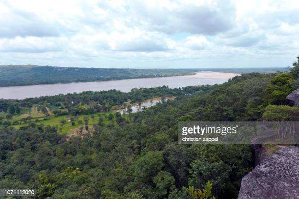 Valley of the Mekong River at the border to Cambodia, Ubon, National Park Pha Taem, Isaan, Thailand