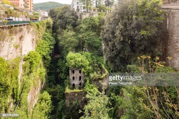 valley of the mills, sorrento, italy - sorrento italy stock pictures, royalty-free photos & images