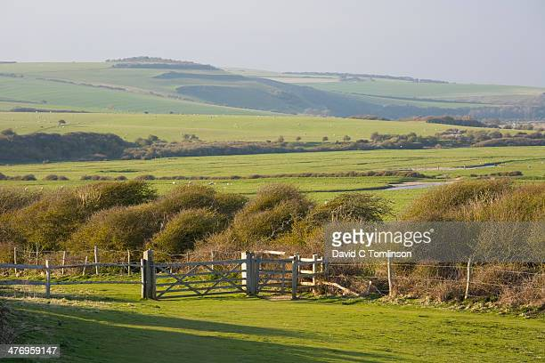 Valley of the River Cuckmere, East Sussex, England