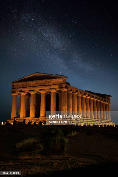 valley of the temples - classical greek style stock pictures, royalty-free photos & images