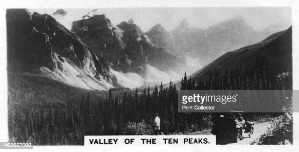 Valley of the Ten Peaks, Banff National Park, Alberta, Canada, c1920s. Cigarette card produced by the Westminster Tobacco Co Ltd, Canada 2nd series.