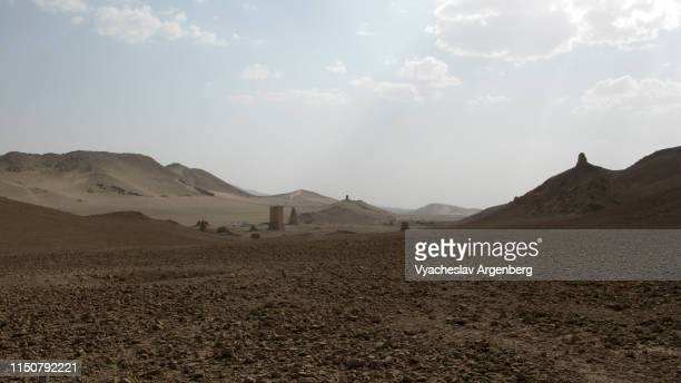 valley of the tombs, 1st century ad, palmyra - argenberg stock pictures, royalty-free photos & images