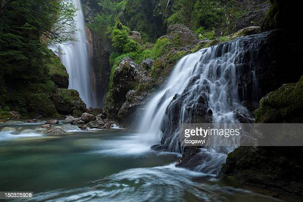 valley of waterfalls - isogawyi stock pictures, royalty-free photos & images