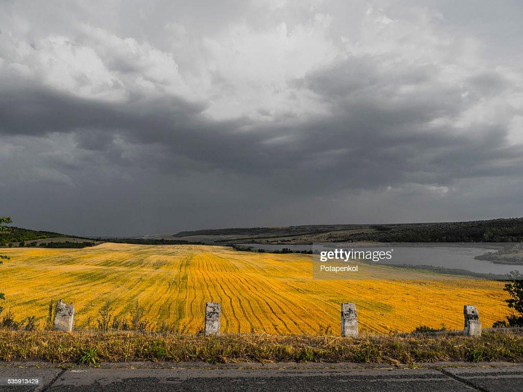 Vale Ucrânia : Foto de stock