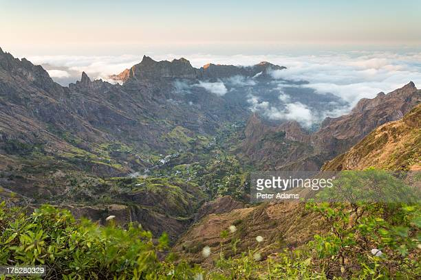 valley view at sunset, north santo antao island - cape verde stock pictures, royalty-free photos & images