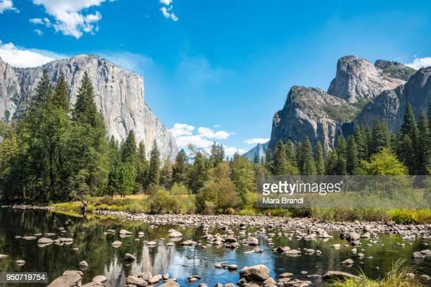 Valley View, view of El Capitan, Merced River, Yosemite National Park, California, USA
