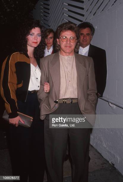 Valli's wife and Frankie Valli during Frankie Valli and Wife sighting at Spago's Restaurant April 3 1991 at Spago's Restaurant in West Hollywood...