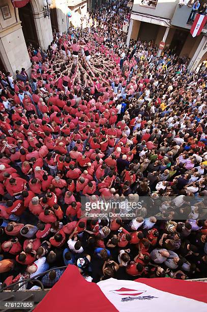 a valls, castells - castellers stock photos and pictures