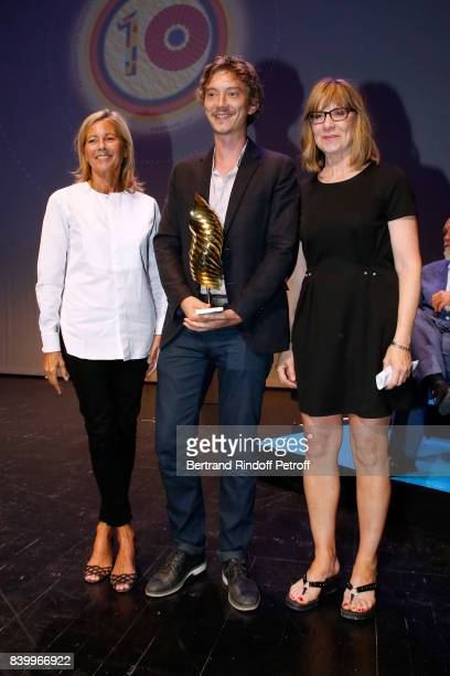 'Valois de lacteur' for Swann Arlaud in 'Petit paysan' Claire Chazal Swann Arlaud and Denise Robert attend the 10th Angouleme FrenchSpeaking Film...