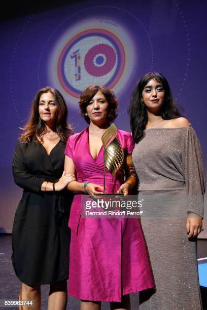 Valois Magelis La belle et la meute of Kaouther Ben Hania Cristiana Reali Director Kaouther Ben Hania and actress Mariam Al Ferjani attend the 10th...