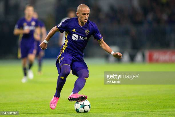 Valon Ahmedi of NK Maribor during UEFA Champions League group E match between NK Maribor and Spartak Moscow at Ljudski Vrt on September 13 2017 in...