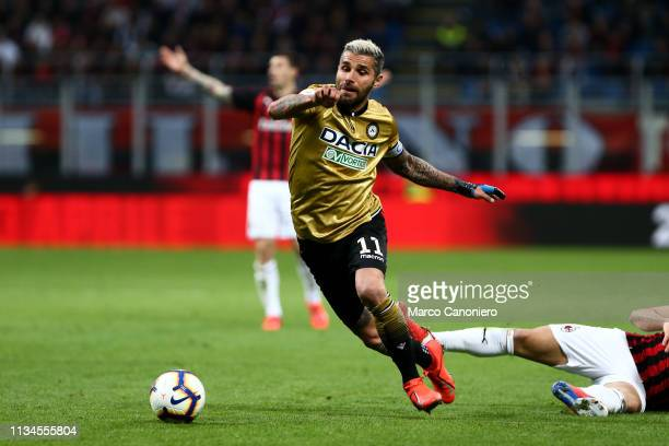 Valon Behrami of Udinese Calcio in action during the Serie A football match between Ac Milan and Udinese Calcio The match ends in a tie 11