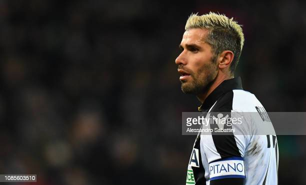 Valon Behrami of Udinese Calcio looks on during the Serie A match between Udinese and Parma Calcio at Stadio Friuli on January 19 2019 in Udine Italy