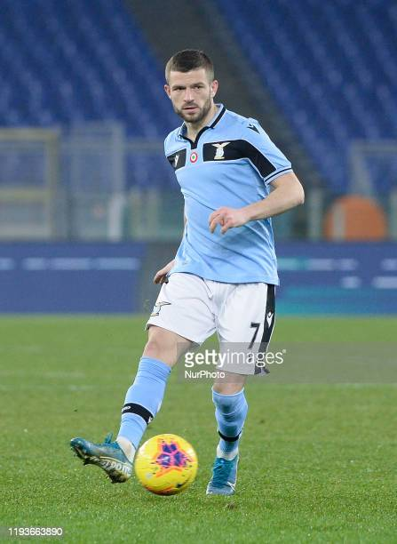 Valon Berisha of SS Lazio during the Coppa Italia match between SS Lazio and US Cremonese at Olimpico Stadium on January 14 2020 in Rome Italy