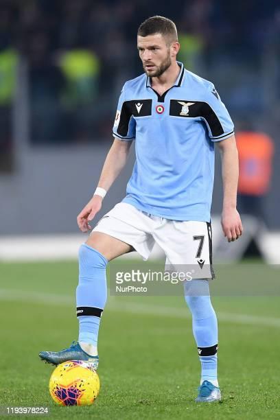 Valon Berisha of SS Lazio during the Italian Cup match between Lazio and Cremonese at Stadio Olimpico Rome Italy on 14 January 2020