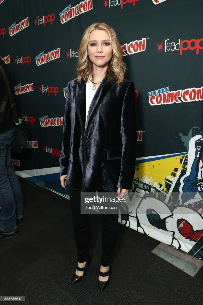 Valorie Curry attends Amazon Prime Video's The Tick New York Comic Con 2017 - Press Room at The Jacob K. Javits Convention Center on October 7, 2017 in New York City.