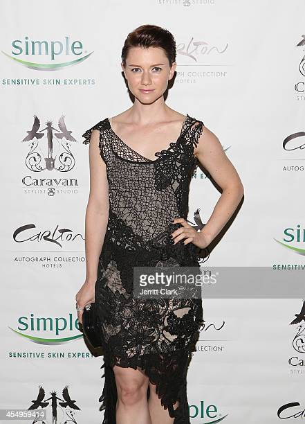 Valorie Curry attends the Simple Skincare Caravan Stylist Studio Fashion Week Event on September 7 2014 in New York City