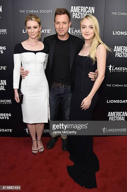 Valorie Curry Ewan McGregor and Dakota Fanning attend a screening of American Pastoral hosted by Lionsgate Lakeshore Entertainment and Bloomberg...