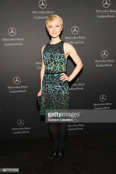 Valorie Curry is seen around Lincoln Center Day 2 MercedesBenz Fashion Week Fall 2014 at Lincoln Center for the Performing Arts on February 7 2014 in...