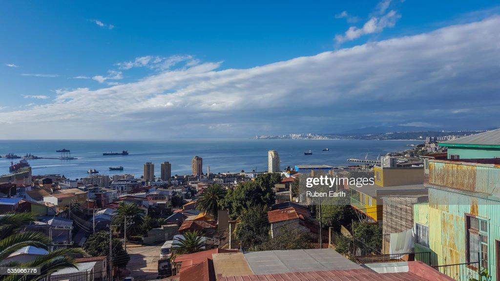 Valparaiso cityscape : Stock Photo