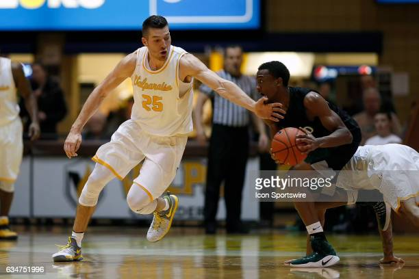 Valparaiso Crusaders forward Alec Peters battles for the basketball in action during the first half of a game between the Cleveland State Vikings and...