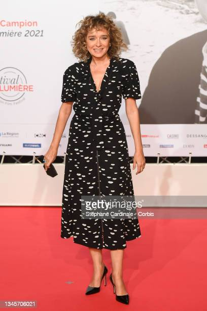 Valéria Golino attends the opening ceremony during the 13th Film Festival Lumiere In Lyon on October 09, 2021 in Lyon, France.