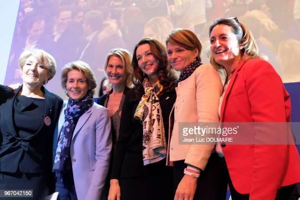 Valérie Boyer porteparole de François Fillon Anne Levade lors du dernier meeting de François Fillon finaliste de la primaire de la droite et du...