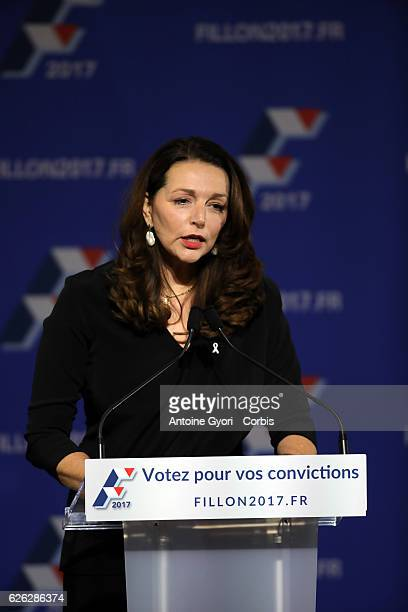 Valérie Boyer speak during the Francois Fillon's Last Meeting Prior the 2nd Round of RightWing Primary Ahead Of The 2017 Presidential Election At In...