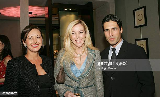 Valrie Scanavino Boutique Manager Eva Hughes Director of Vogue en Espanol and Mario Castelo