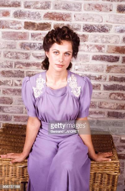 Valérie Stroh lors du tournage du film 'Le Baptême' en juin 1989 France