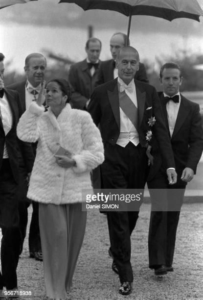 Valéry Giscard d'Estaing et sa femme AnneAymone en visite à Bonn le 11 juillet 1980 lors du sommet francoallemand Allemagne