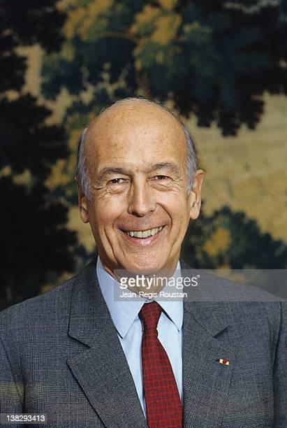 Valéry Giscard d'Estaing , French statesman, Paris, Bourbon Palace, on September 28, 1989.