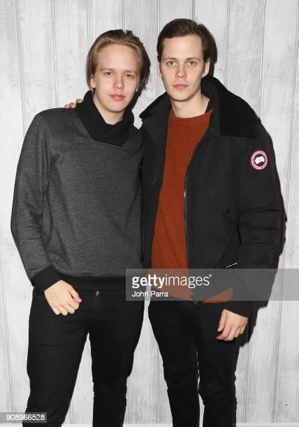 Valter Skarsgard and Bill Skarsgard attend The Hollywood Reporter 2018 Sundance Studio at Sky Strada Park City on January 22 2018 in Park City Utah