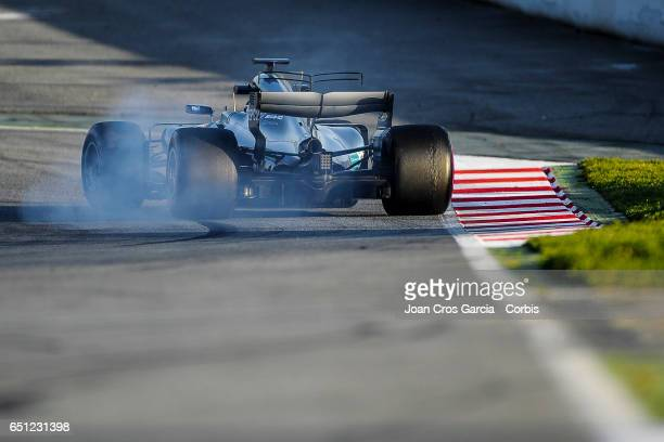 Valteri Bottas of Mercedes AMG Petronas Team driving his car during the Formula One Winter tests on March 9 2017 in Barcelona Spain