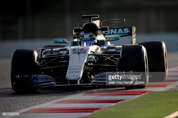 Valteri Bottas of Mercedes AMG Petronas Team during the Formula One Winter tests on March 9 2017 in Barcelona Spain