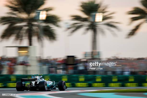 Valterri Bottas of Mercedes and Finland during the Abu Dhabi Formula One Grand Prix at Yas Marina Circuit on November 26 2017 in Abu Dhabi United...