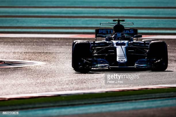 Valterri Bottas of Mercedes and Finland during the Abu Dhabi Formula One Grand Prix at Yas Marina Circuit on November 26 2017 in Abu Dhabi United...