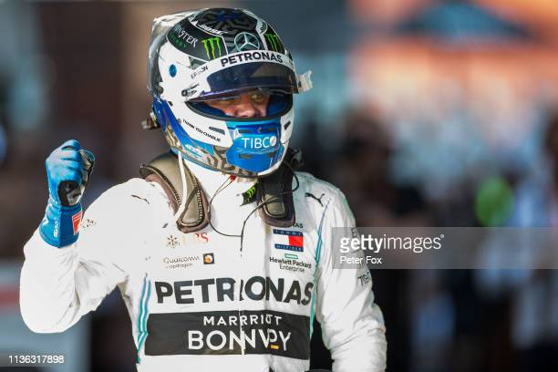 Valterri Bottas of Mercedes and Finland during the F1 Grand Prix of Australia at Melbourne Grand Prix Circuit on March 17 2019 in Melbourne Australia