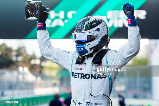 Valterri Bottas of Mercedes and Finland during the F1 Grand Prix of Azerbaijan at Baku City Circuit on April 28 2019 in Baku Azerbaijan