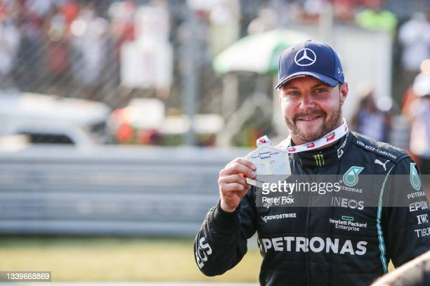 Valterri Bottas of Mercedes and Finland wins the Sprint race ahead of the F1 Grand Prix of Italy at Autodromo di Monza on September 11, 2021 in...