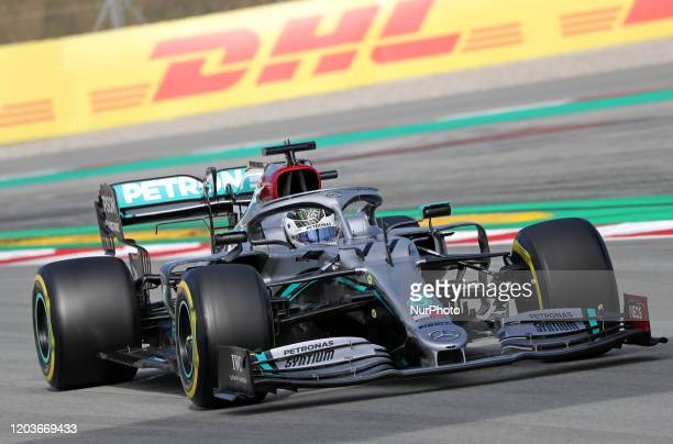 Valtteri Bottas and the Mercedes W11 during the day 5 of the formula 1 testing on 27 February 2020 in Barcelona Spain