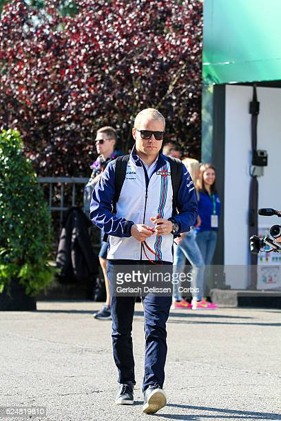 Valtteri Bottas driving for the Williams Martini Racing Team in the paddock during the 2015 Formula 1 Shell Belgian Grand Prix at Circuit de...