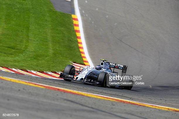 Valtteri Bottas driving for the Williams Martini Racing Team in action during the race of the 2015 Formula 1 Shell Belgian Grand Prix at Circuit de...