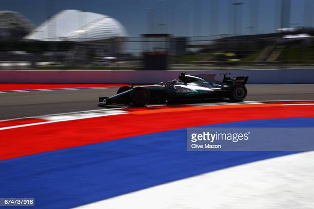 Valtteri Bottas driving the Mercedes AMG Petronas F1 Team Mercedes F1 WO8 on track during final practice for the Formula One Grand Prix of Russia on...