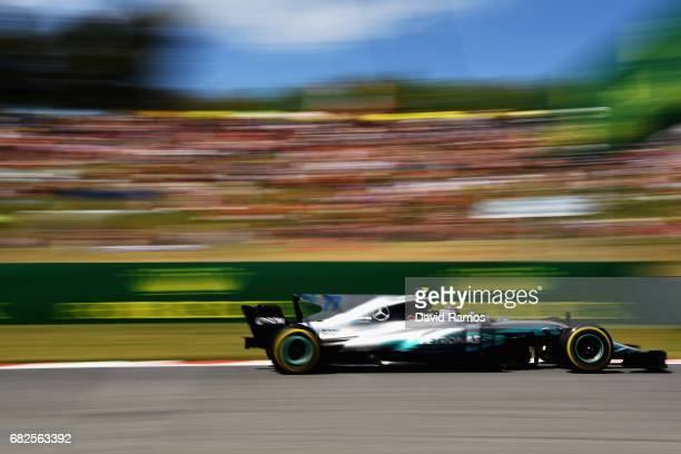Valtteri Bottas driving the Mercedes AMG Petronas F1 Team Mercedes F1 WO8 on track during final practice for the Spanish Formula One Grand Prix at...